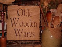 olde wooden wares homespun pillow