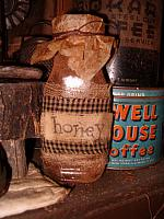 grungy honey jar