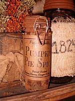 pumpkin pie spice grungy jar