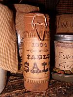 table salt grungy jar