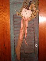 #1408 tophat snowman stocking