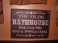 The Olde Bath House sign