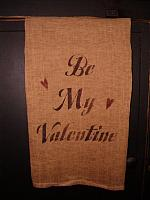 Be My Valentine cursive towel or pillow