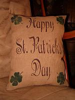 #1426 Happy St Patrick's Day pillow or towel