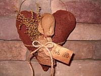 #1428 prairie tuck heart hanger