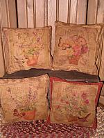 vintage flower seed pillows