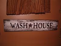 horizontal Wash House  sign