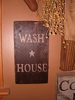 vertical Wash House  sign