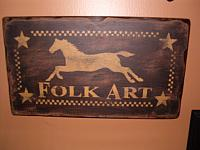Folkart horse sign