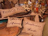 fresh cut flowers pillow set