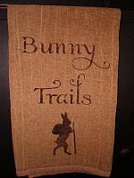 Bunny Trails towel