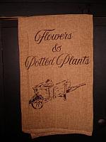 Flowers and potted plants towel