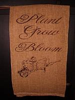 plant grow bloom wheelbarrow towel