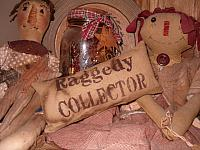 Raggedy collector pillow