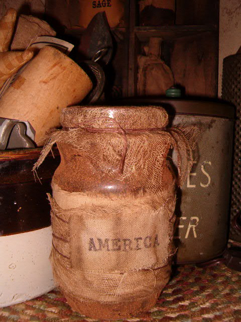 Large grungy pantry jars