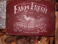 Farm Fresh premium quality sign