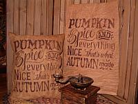 pumpkin spice and everything nice pillow or towel