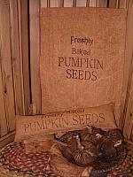 freshly baked pumpkin seeds pillow or towel