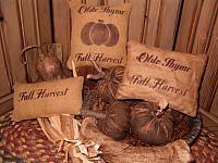 Fall Harvest pillow tucks