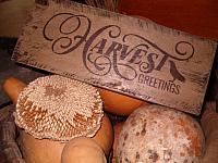 Harvest greetings sign