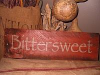 Bittersweet sign