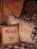 small homespun wool pillow
