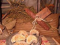 Harvest homespun pillow