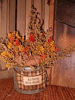 Autumn Blessings tin can