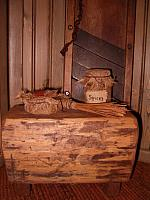 Antique chopping block