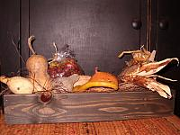 gourd filled trencher tray