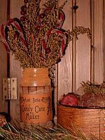 Aunt Bettie Candy Cane jar
