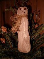 Woodland snowman ornie