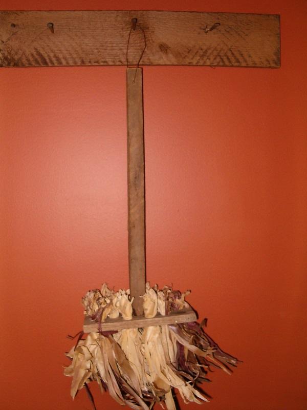 small corn husk broom