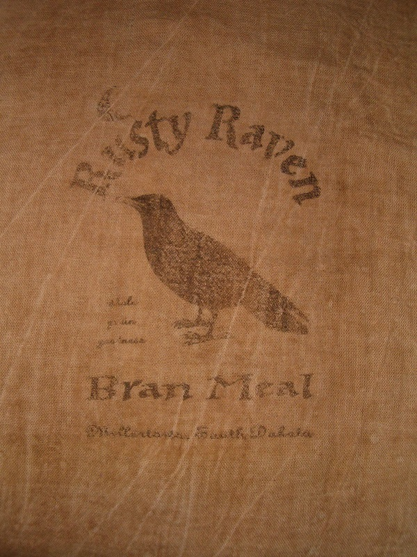 Rusty Raven Bran meal flour sack items