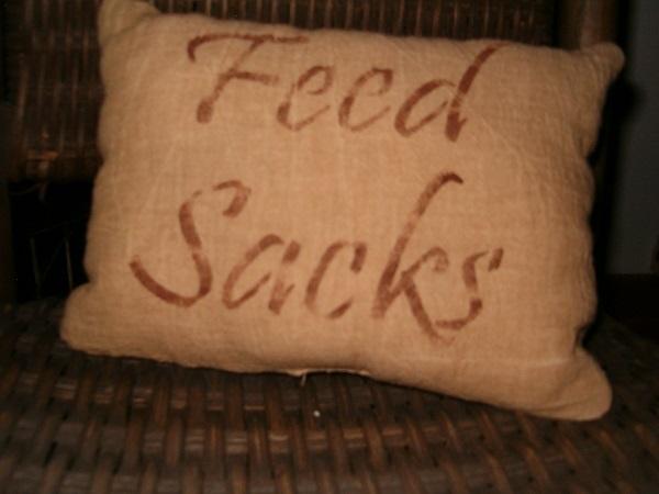 feed sacks pillow
