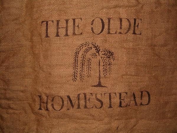 the olde homestead large burlap sack