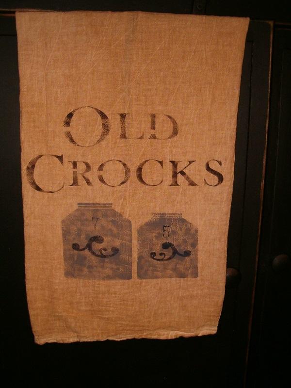 Old Crocks flour sack towel
