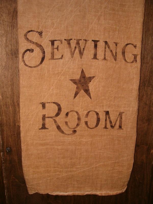 sewing room floursack towel