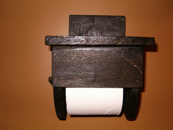 small toilet paper holder