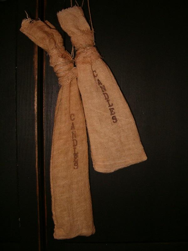 candles floursack hangers