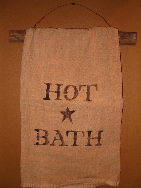 bath towel with lath hanger