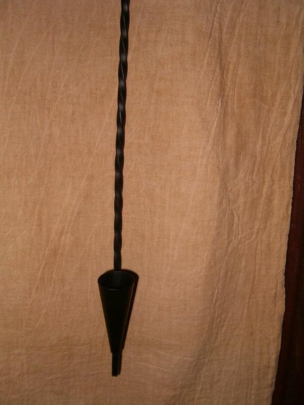 wrought iron taper holder