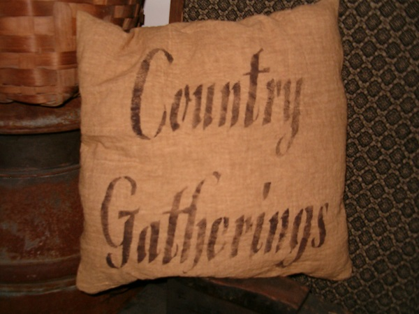 country gatherings pillow