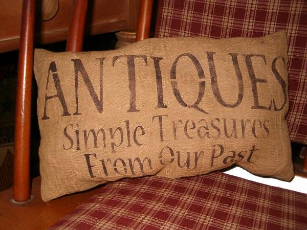 antiques simple treasures pillow
