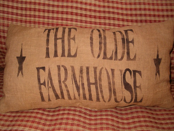 rectangular the old farmhouse pillow
