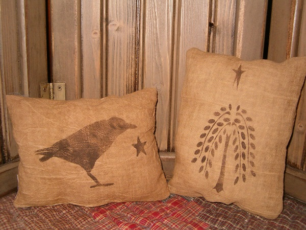 willow tree and crow pillow set