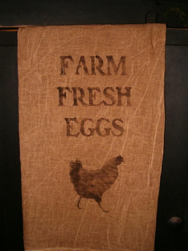 farm fresh eggs towel