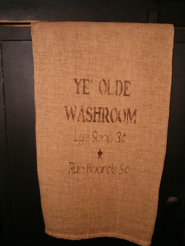 ye olde washroom towel