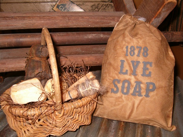 1878 lye soap ditty bag