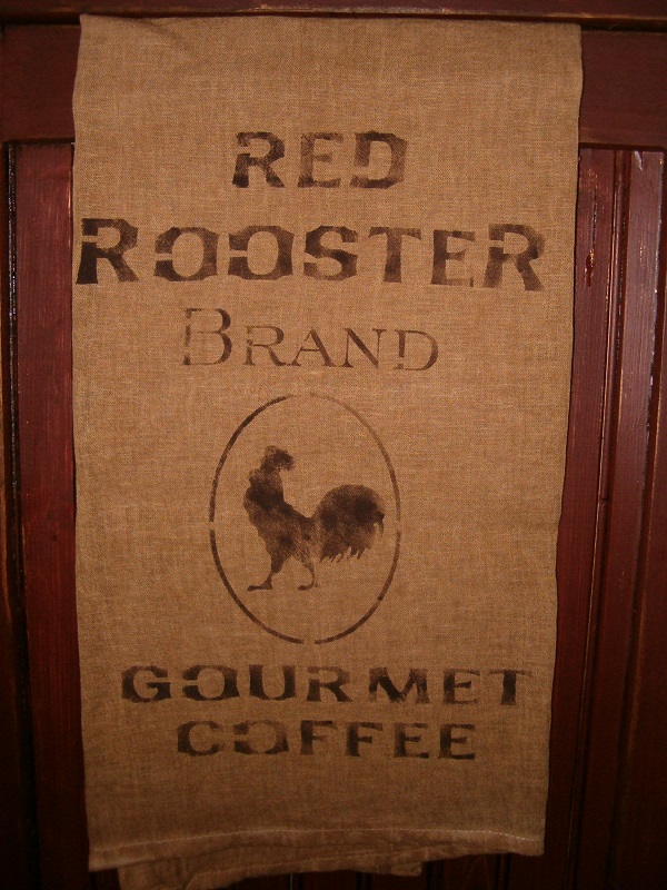 Red Rooster Brand Coffee towel